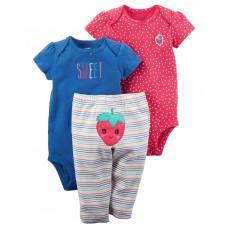 Дитячий набір Полуничка Carters для дівчаток